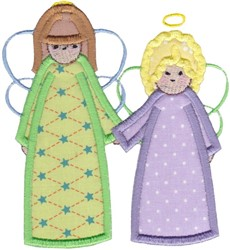 Angels Applique embroidery design