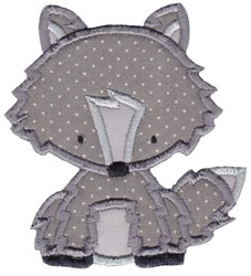 Wolf Applique embroidery design