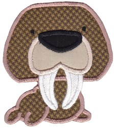 Walrus Applique embroidery design