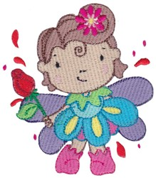 Rose Fairy embroidery design
