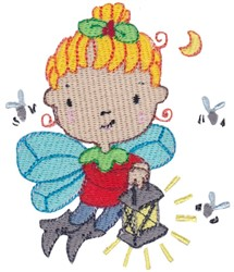 Firefly Fairy embroidery design