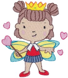 Heart Fairy embroidery design