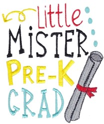 Mister Pre-K embroidery design