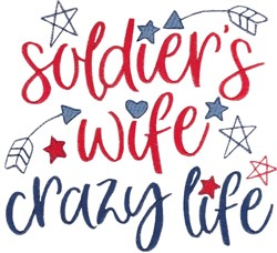 Soldiers Wife embroidery design