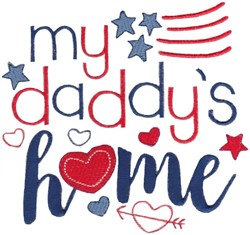Daddys Home embroidery design