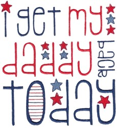 Get Daddy Back embroidery design