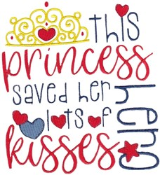 Lots Of Kisses embroidery design