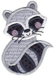 Applique Raccoon embroidery design