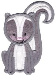 Applique Skunk embroidery design