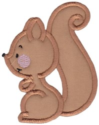 Applique Squirrel embroidery design