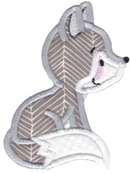Applique Wolf embroidery design