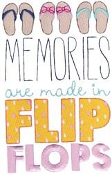 Flip Flop Memories embroidery design