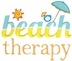 Beach Therapy embroidery design