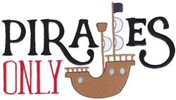 Pirates Only embroidery design