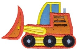 Bulldozer Applique embroidery design