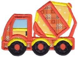 Applique Cement Truck embroidery design