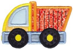 Applique Dump Truck embroidery design