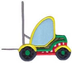 Applique Forklift embroidery design