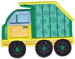 Applique Truck embroidery design