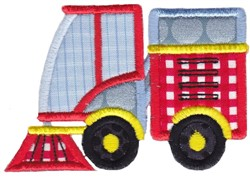 Applique Street Sweeper embroidery design