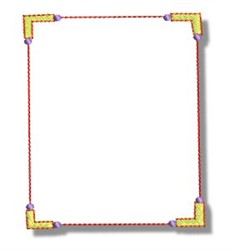 Picture Frame embroidery design