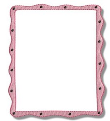 Wavy Frame embroidery design