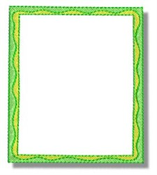 Green Frame embroidery design