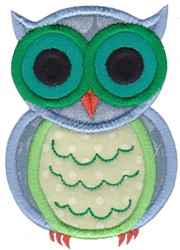 Applique Owl embroidery design