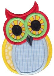 Big Eye Owl embroidery design