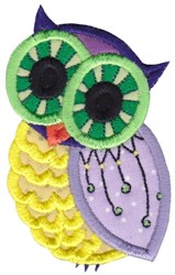 Gren Eye Owl embroidery design