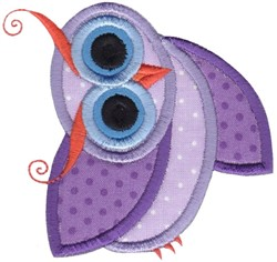 Applique Purple Owl embroidery design