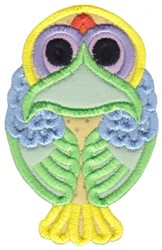 Owl Applique embroidery design