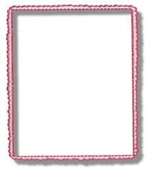 Pink Frame embroidery design
