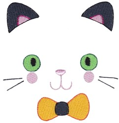 Kitty Face embroidery design