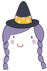 Witch Face embroidery design