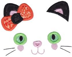 Black Cat Face embroidery design