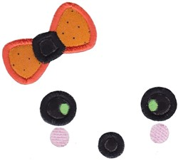 Girl Ghost Face embroidery design
