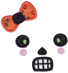 Girl Skeleton Face embroidery design