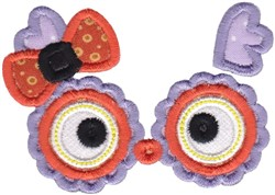 Girl Owl Face embroidery design