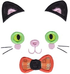 Kitten Face embroidery design