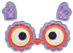 Applique Owl Face embroidery design