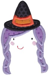 Applique Witch embroidery design