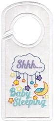 Baby Sleeping Hanger embroidery design
