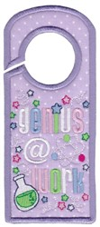 Genius @ Work embroidery design