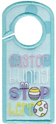 Bunny Stop Here embroidery design