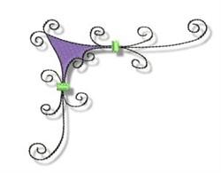 Swirl Corner embroidery design