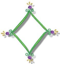 Diamond Frame embroidery design