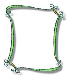 Curvy Frame embroidery design