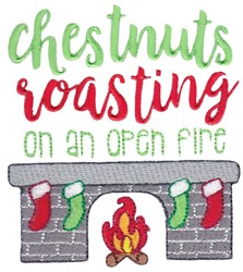 Chestnuts Roasting embroidery design