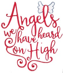 Angels We Have Heard embroidery design